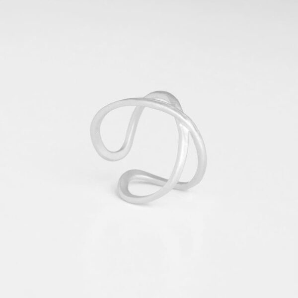 A Kind of Magic Cross Infinite Ring Silver