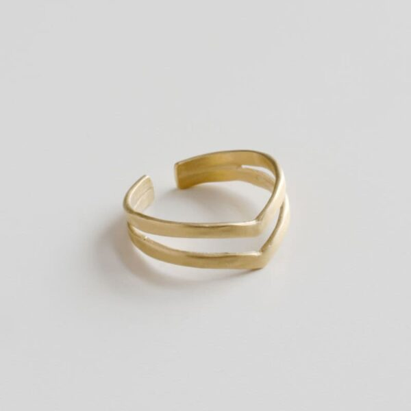 A kind of magic wonderwoman doble ring gold