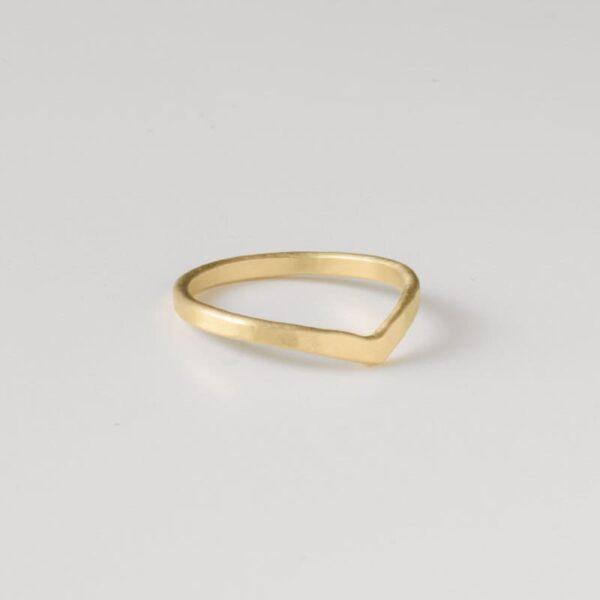 A kind of magic wonderwoman simple ring gold