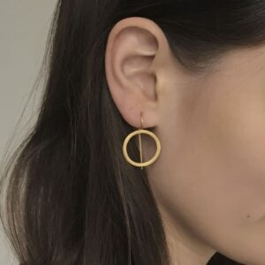 Aretes Hippies Circle Earrings Gold lady