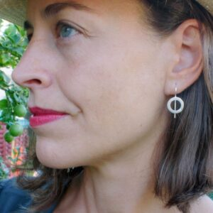 Aretes Hippies S Circle Earrings Silver Lady