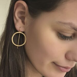 Aretes Hippies XL Circle Earrings Gold Lady