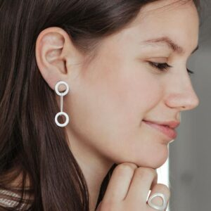 Aretes day into night S earrings silver lady