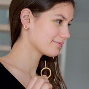 Aretes day into night XL earrings Gold lady