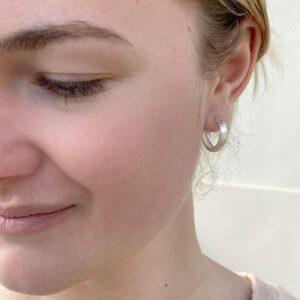 Bea Hoop earrings silver lady