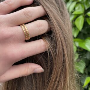 Camu Double Ring Gold lady