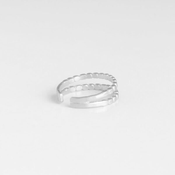 Camu Double Ring Silver