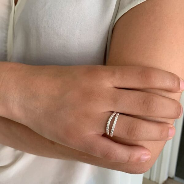 Camu Double Ring Silver lady