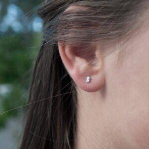 Camu Mini Earrings Silver Lady