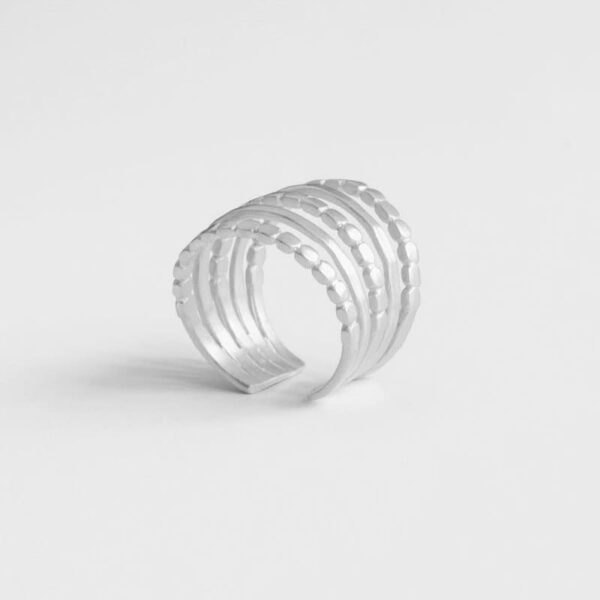 Camu Five Ring Silver