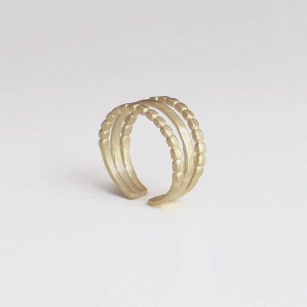 Camu Triple Ring Gold