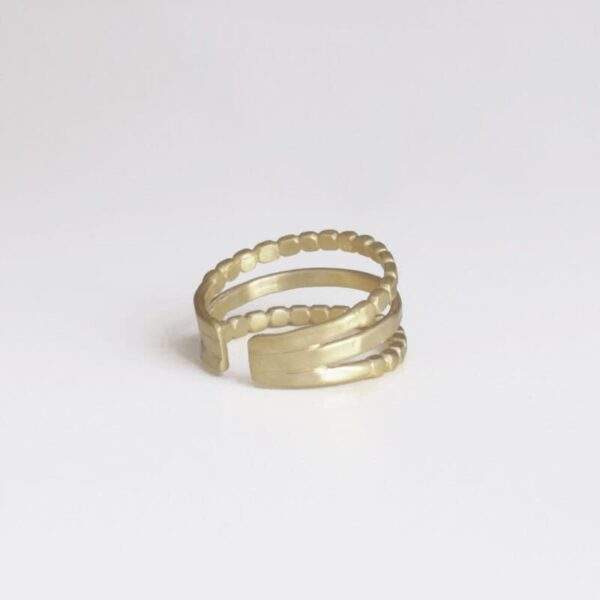 Camu Triple Ring Silver lady