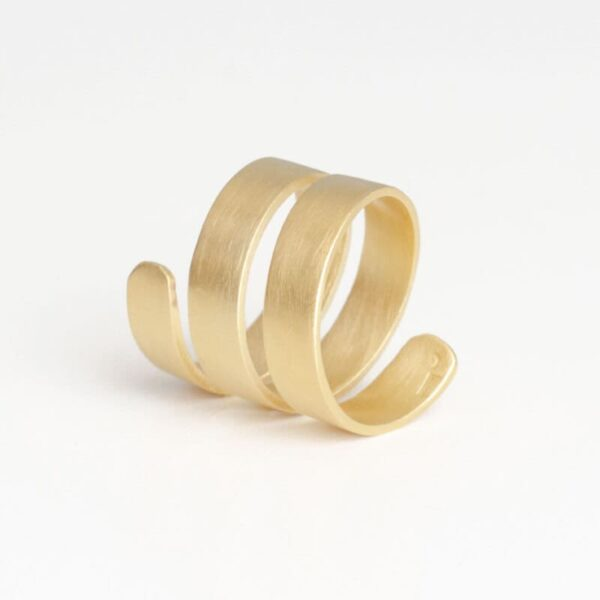 Claudia Ring Gold back