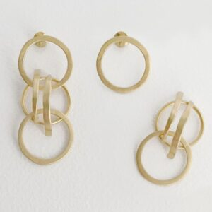 Day into Night Earrings gold