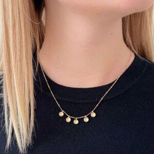 Five Tinny Pendant Gold lady