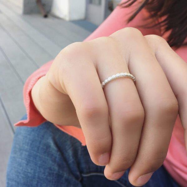 Flat Misha Ring Silver Lady
