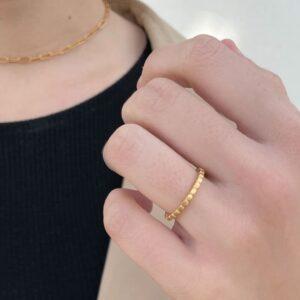 Flat Misha Ring gold Lady