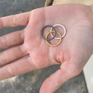 Flat Misha Ring silver gold rut Lady