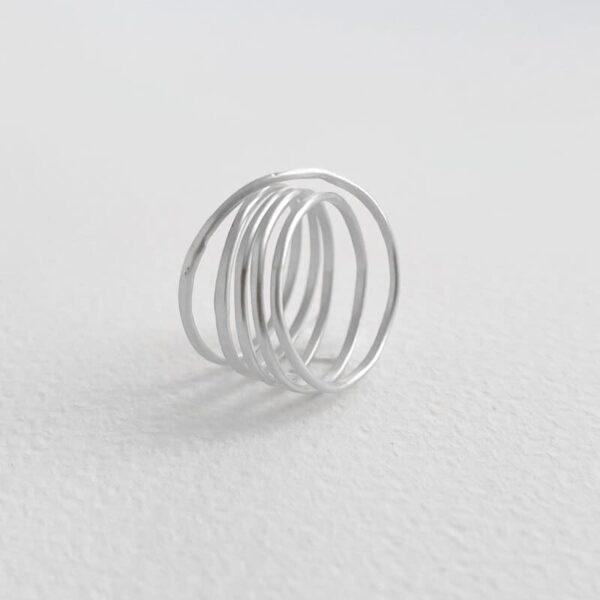 Gala Five Ring Silver