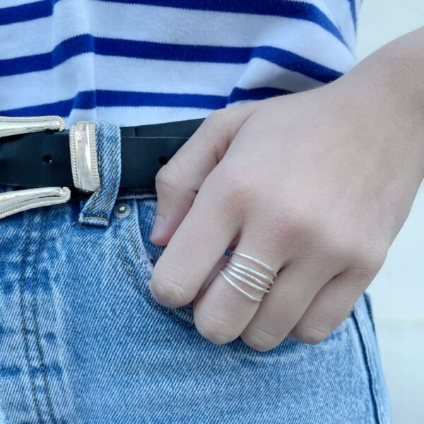 Gala Five Ring Silver lady