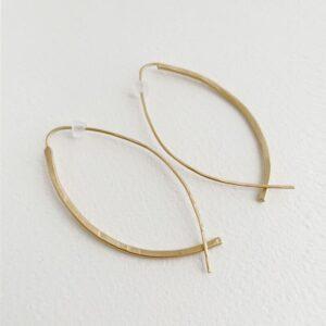 Gala L Hoop Earrings gold