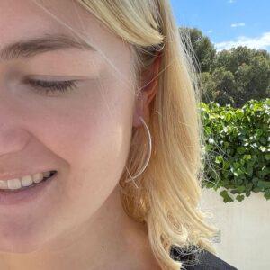 Gala L Hoop Earrings silver lady