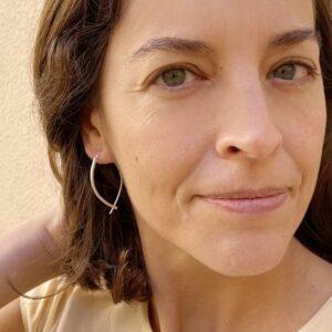 Gala M Hoop earrings silver lady