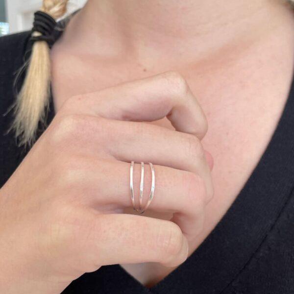 Gala triple Ring Silver lady
