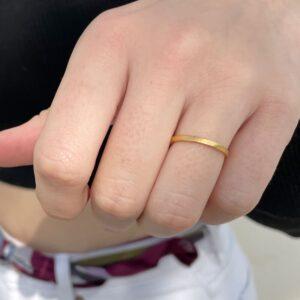 Half Flat Ring Gold lady