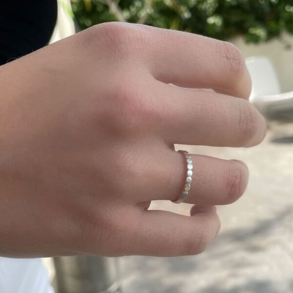 Half Flat Ring Silver lady