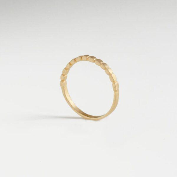 Half flat ring gold