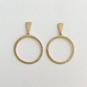 Hoop L Circle Earrings Gold