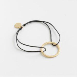 Circle M Nylon Bracelet Gold