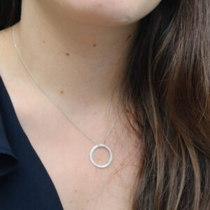 Circle M Necklace Silver Lady