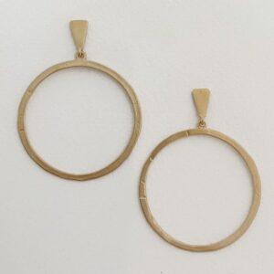 Hoop XL Circle Earrings Gold