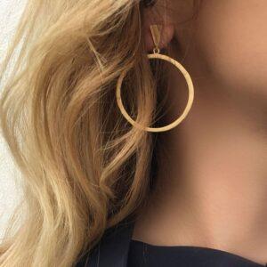 Hoop XL Circle Earrings Gold Lady