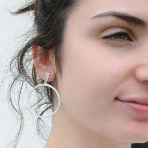 Hoop XL Circle Earrings Silver Lady