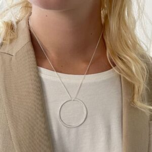 Circle XL Necklace Silver Lady