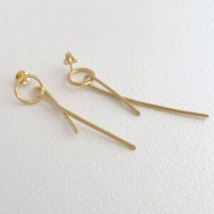 Insieme Long earrings gold