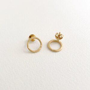 Insieme circle earrings gold