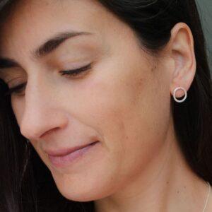 Insieme circle earrings silver lady