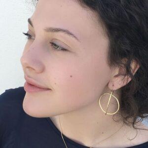 Kam Around m Earrings gold lady