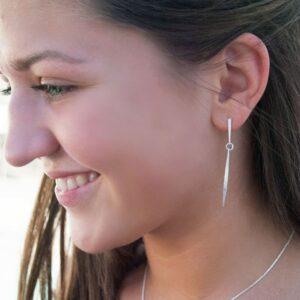 Kam M two parts earrings silver lady