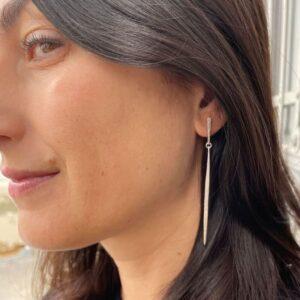 Kam XL two parts earrings silver lady