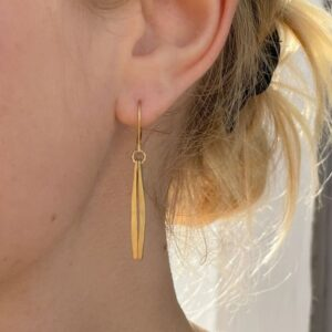 Kam double Pendant earrings gold lady