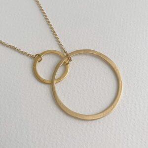 La Cala M Short Circle Necklace Gold