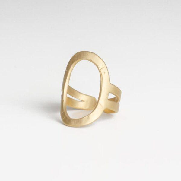 La Cala Oval Ring Gold
