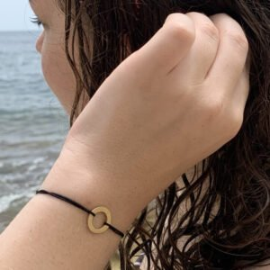 Circle S Nylon Bracelet Gold Lady