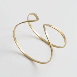 Maria Bangle Bracelet Gold