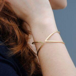 Maria Bangle Bracelet Gold lady